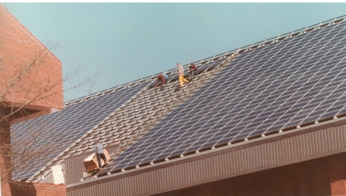 Installation of the ICC's Photovoltaic Array (1984)